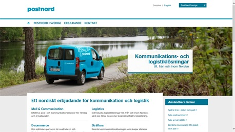 New temporary PostNord websites