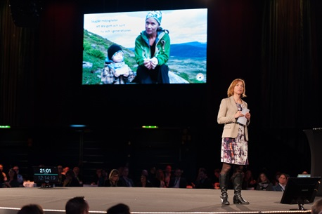 Karin Bodin, CEO of Norrland-based company Polarbröd,spoke about sustainable communication.