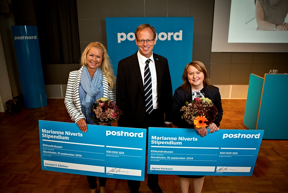 From left: Kariann Ellefsen, Head of Trafikk PostNord Norge, President and Group CEO Håkan Ericsson and Agnes Karlsson, Head of Customer Service PostNord Sweden