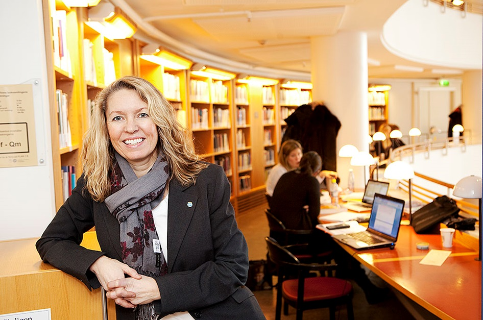 Eva Ossiansson is conducting research into brands and social media at the Gothenburg School of Business, Economics and Law. Photo: Per Hanstorp